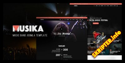Musika v2.0.0 - музыкальный шаблон для Joomla