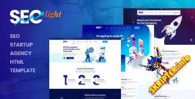 Seclight v1.0 - HTML-шаблон SEO стартап-агентства