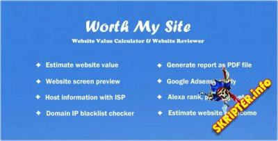 Worth My Site v1.9.9 Rus Nulled - калькулятор стоимости сайта