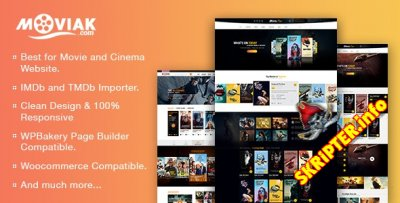 AmyMovie v3.5.0 - тема WordPress для киносайта