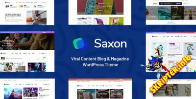 Saxon v1.8.0 Nulled - шаблон вирусных новостей WordPress