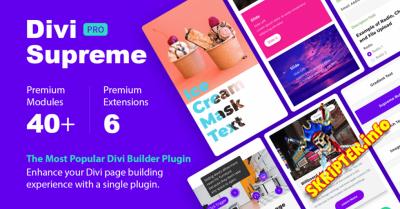 Divi Supreme Pro v3.4.9 - креативные модули для Divi WordPress