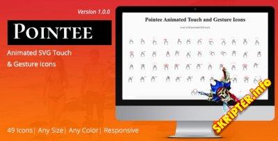 Pointee v1.0 - анимированные значки касаний и жестов