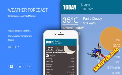 JUX Weather Forecast v2.1.1 - прогноз погоды на вашем Joomla сайте