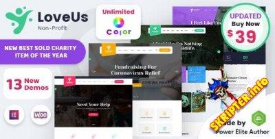 Loveus v2.0 Nulled - благотворительная тема для WordPress
