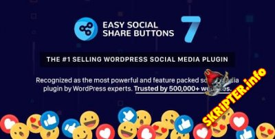 Easy Social Share Buttons v7.7 Nulled - социальные кнопки для WordPress