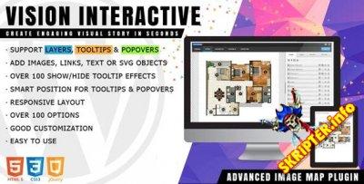 Vision Interactive v1.4.0 - конструктор карт изображений для WordPress