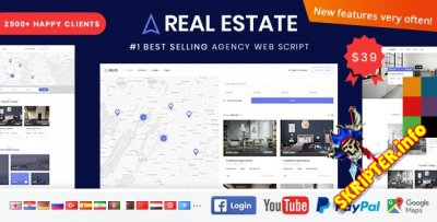 Real Estate Agency Portal v1.6.8 Rus Nulled - скрипт портала недвижимости