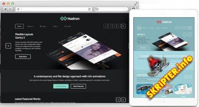 RT Hadron v2.0.5 - корпоративный шаблон для Joomla