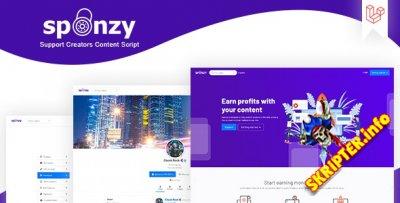 Sponzy v1.4 - скрипт монетизации контента