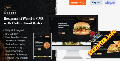 Superv v1.0 - система управления сайтом ресторана