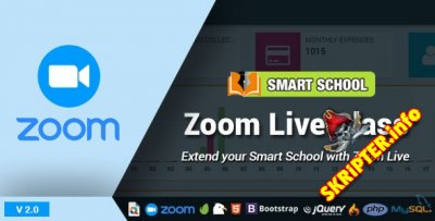 Smart School Zoom Live Class v2.0 Nulled - умная школа