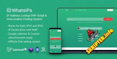 WhatsIPs v1.2 - PHP-скрипт поиска IP-адреса