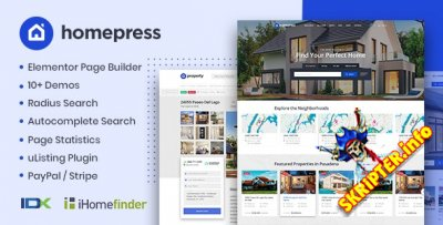 HomePress v1.2.6  Nulled - тема WordPress по недвижимости