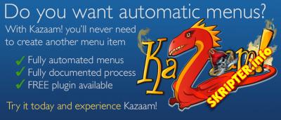 Kazaam Pro v1.0.9 - автоматическое создание меню для Joomla