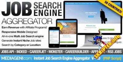 Instant Job Search Engine Aggregator v4.5 Nulled - скрипт мгновенного поиска вакансий