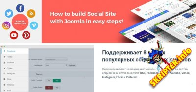 JA Social Feed v1.4.0 - импорт контента из социальных сетей Joomla
