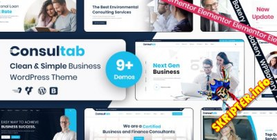 Consultab v2.3 Nulled - тема WordPress для бизнеса и финансов
