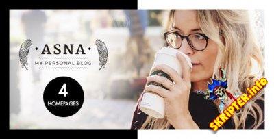 Asna v2.2 - тема творческого блога для WordPress