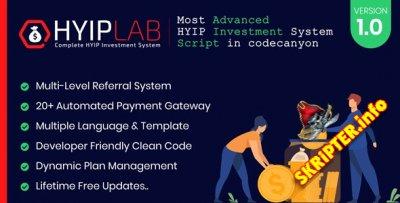 HYIPLab v1.0 - система HYIP инвестирования