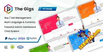 Thegigs v1.0 - скрипт рынка услуг