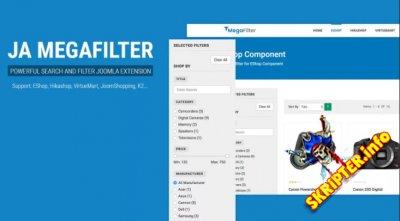 JA Megafilter v1.2.1 - расширенный фильтр для Joomla