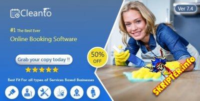 Cleanto v7.4 - скрипт онлайн-бронированиями для горничных и клининговых компаний