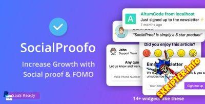 SocialProofo v2.2.0 Nulled - скрипт для показа всплывающих окон на сайте