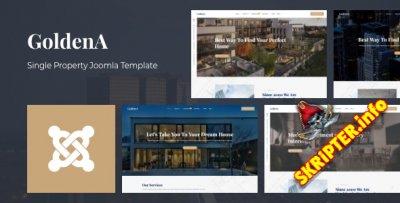 GoldenA v1.0 - шаблон Joomla для индивидуального агентства