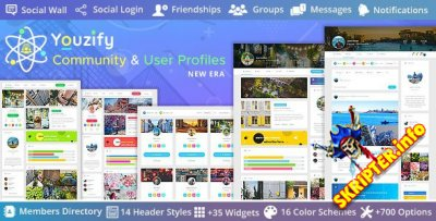 Youzify v3.0.2 Rus Nulled - система членства для WordPress