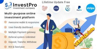InvestPro v1.0.4 - инвестиционная платформа для кошельков и банковских операций
