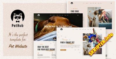 PetHub v1.0 - Joomla шаблон для сайтов о животных