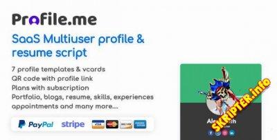 Profile.me v1.9 Nulled - многопользовательский профиль и резюме скрипт