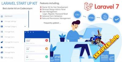 Laravel Bootstrap Starter Kit v1.0 - стартовый комплект Laravel Bootstrap