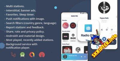 Radio Pro v2.0 - многостанционное радио-приложение с панелью администратора