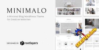 Minimalo v1.0.7 - минималистичная тема WordPress для креативных сайтов