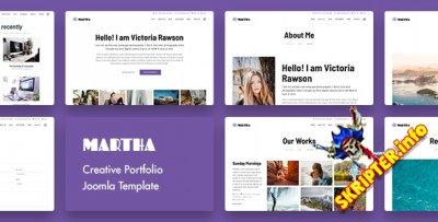 Martha v1.0 - шаблон Joomla для творческого портфолио