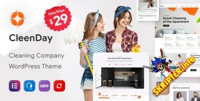 CleenDay v1.0.1 Nulled - тема WordPress для клининговых компаний