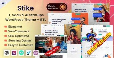 Stike v2.5 Nulled - тема WordPress для ИТ-стартапов