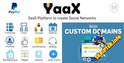 YaaX v1.3.0 - платформа SaaS для создания социальных сетей
