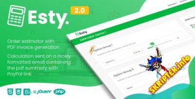 Esty v2.0 Nulled - оценщик заказов и генератор сводных данных