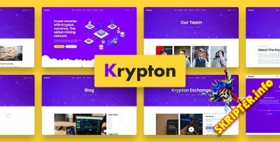 Krypton v1.0.0 - шаблон Joomla для криптовалюты