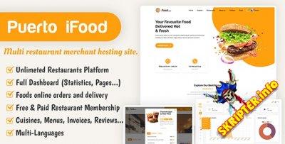 iFood v1.1 - скрипт сайта с несколькими ресторанами