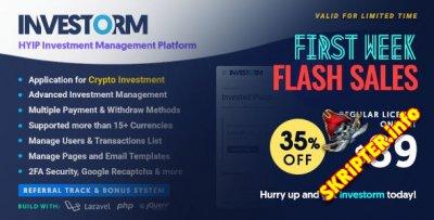 Investorm v1.0 Nulled - скрипт для управления инвестициями