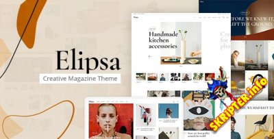Elipsa v1.2 Nulled - WordPress тема для творческого блога