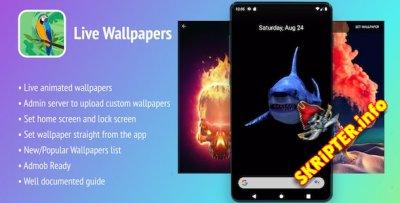 "Live Wallpapers Android App v1.0 - приложение ""Живые обои"" для Android"