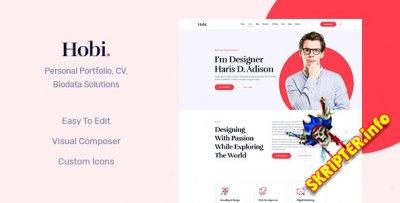 Hobi v1.0.7 - тема WordPress для личного портфолио