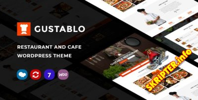 Gustablo v1.15 - WordPress тема для ресторанов и кафе