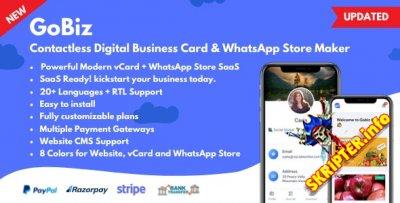 GoBiz v4.0.3 Nulled - цифровая визитка + конструктор магазина WhatsApp