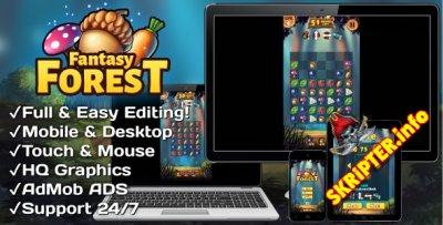 Fantasy Forest v1.0 - HTML5 + Mobile Game